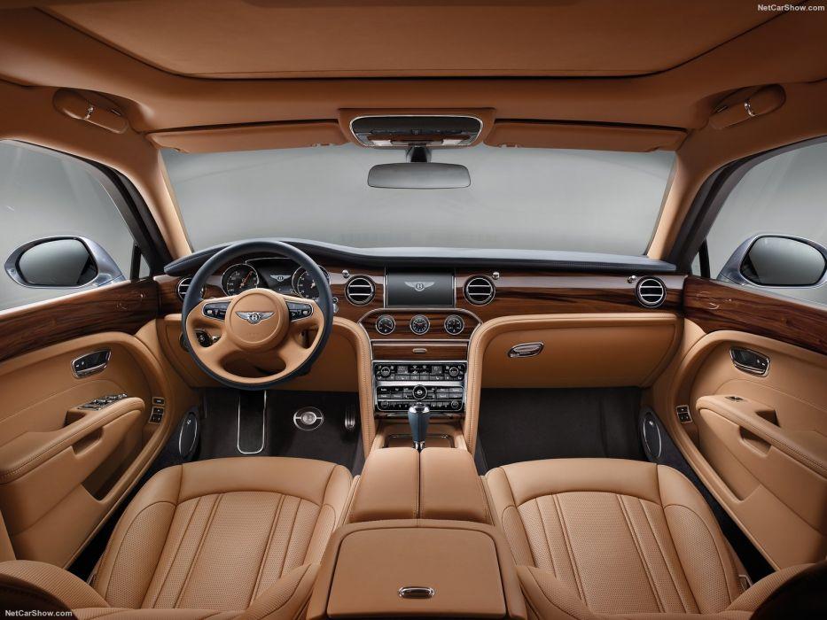 Bentley Mulsanne cars luxury sedan blue 2016 interior wallpaper