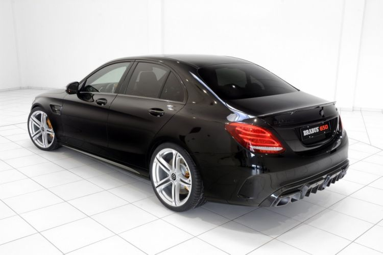 Brabus Mercedes AMG C63 S cars black modified wallpaper