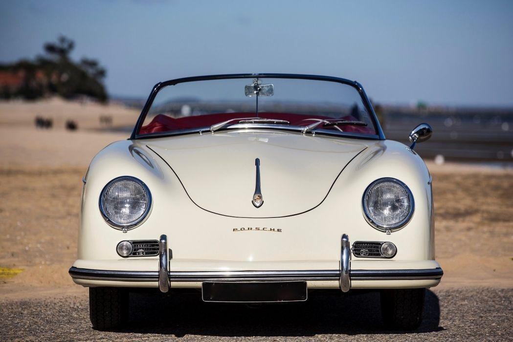 Porsche 356A 1600 Convertible D by Drauz (T2) 1958 1959 cars classic wallpaper