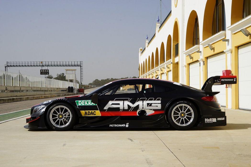Mercedes AMG C63 Coupe DTM (C205) 2016 cars racecars black wallpaper