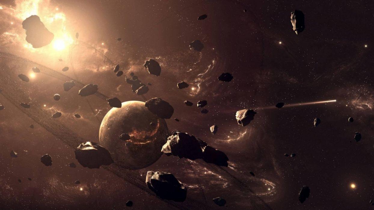 asteroides espacio planetas naturaleza universo wallpaper