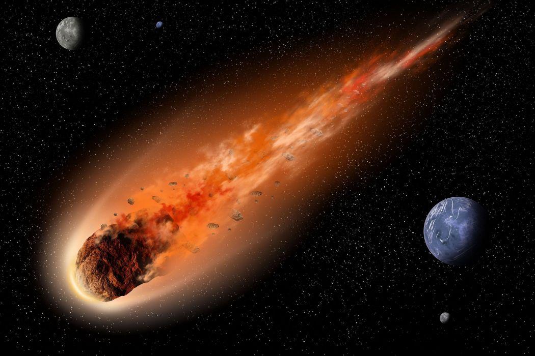 cometa espacio naturaleza planeta tierra wallpaper