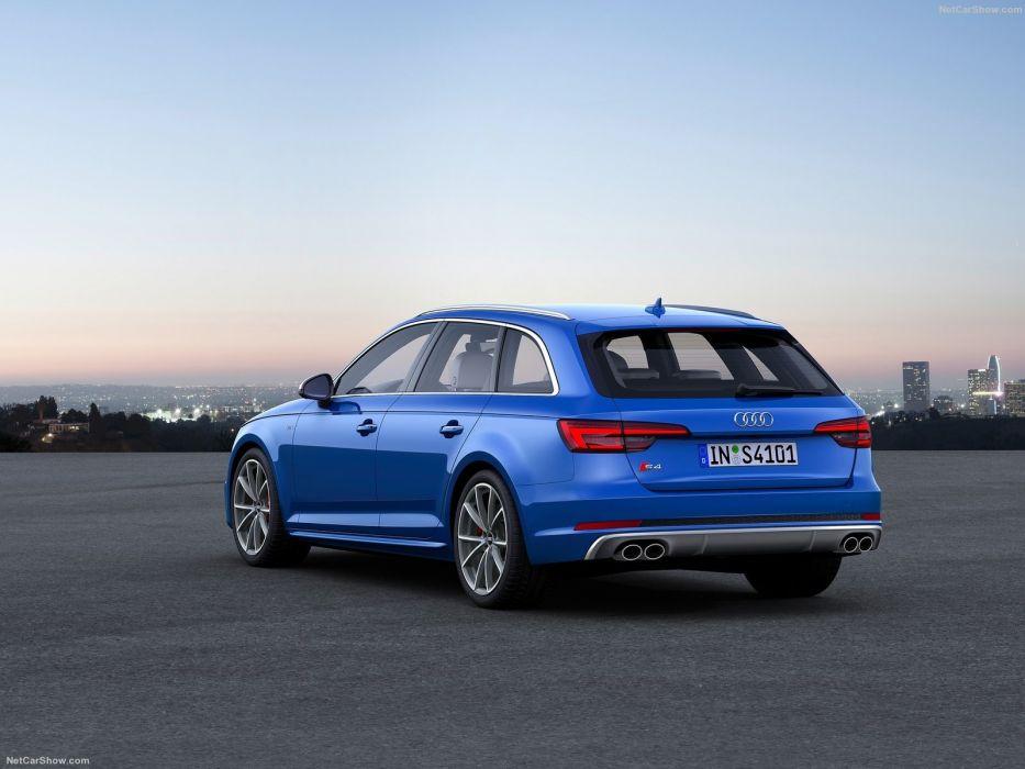 Audi S4 Avant cars wagon blue 2016 wallpaper