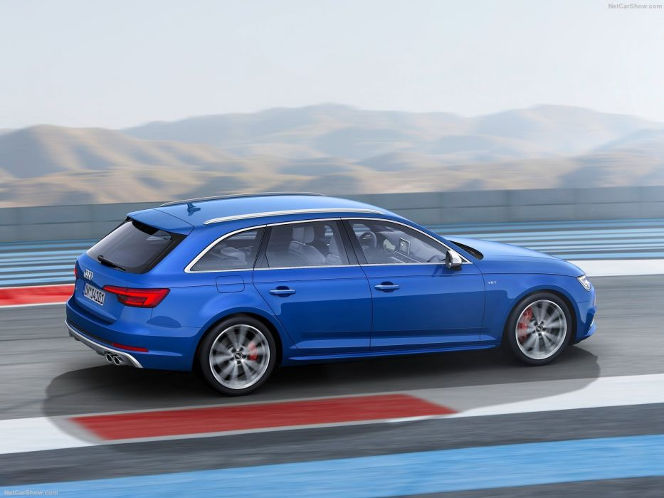 Audi S4 Avant cars wagon blue 2016 wallpaper
