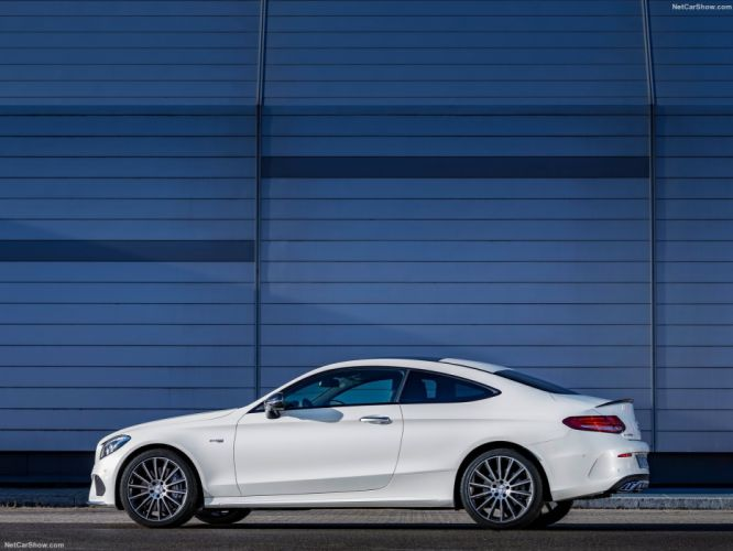 Mercedes Benz C43 AMG 4Matic Coupe cars white 2016 wallpaper