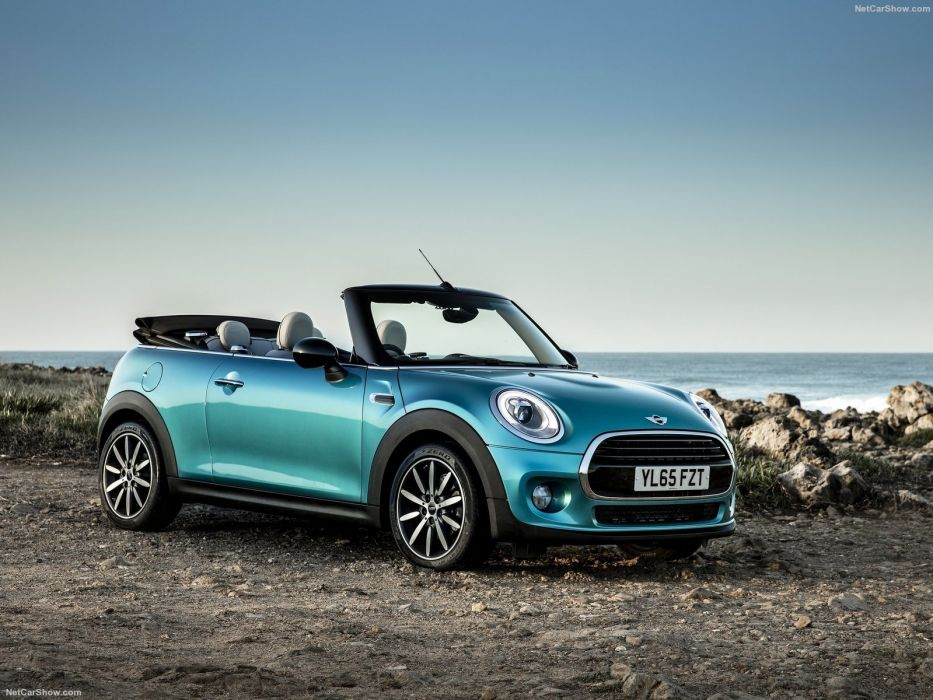 Mini cooper Convertible UK-Version blue cars 2016 wallpaper