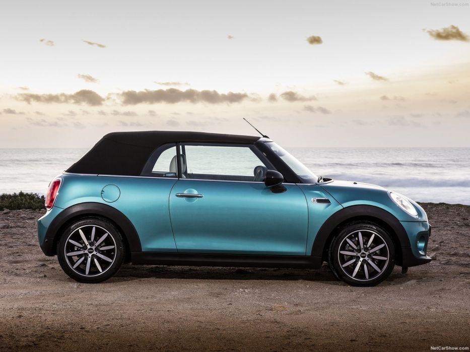 Mini cooper Convertible UK-Version blue cars 2016 wallpaper