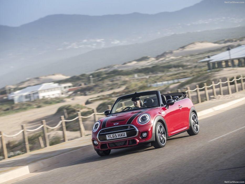 Mini cooper S Convertible UK-Version RED cars 2016 wallpaper