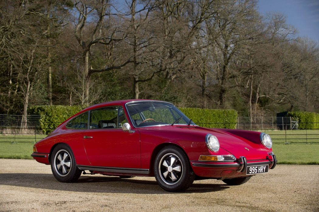 Porsche 911 S 2 0 Coupe UK-spec (901) 1966 1968 red cars classic wallpaper
