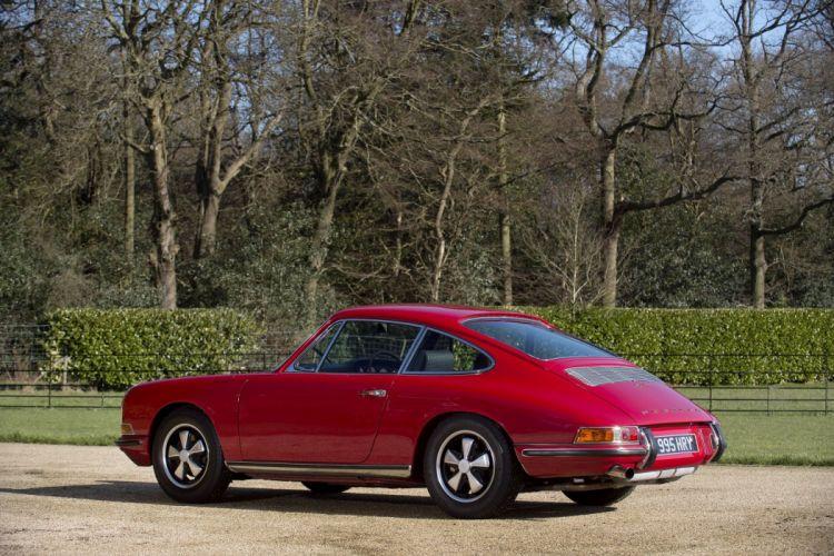 Porsche 911 S 2 0 Coupe UK-spec (901) 1966 1968 red cars classic wallpaper