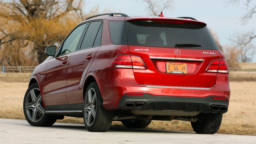 2016 Mercedes AMG GLE63 S cars suv red wallpaper