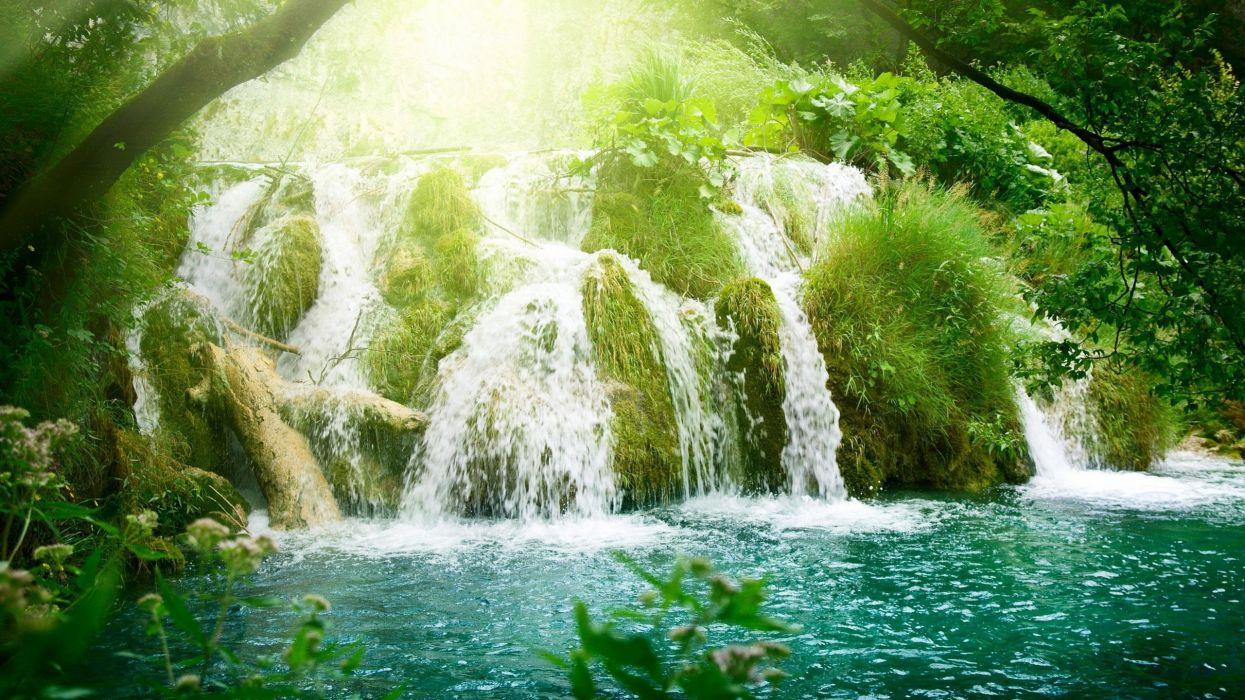 cascadas rio selva naturaleza wallpaper
