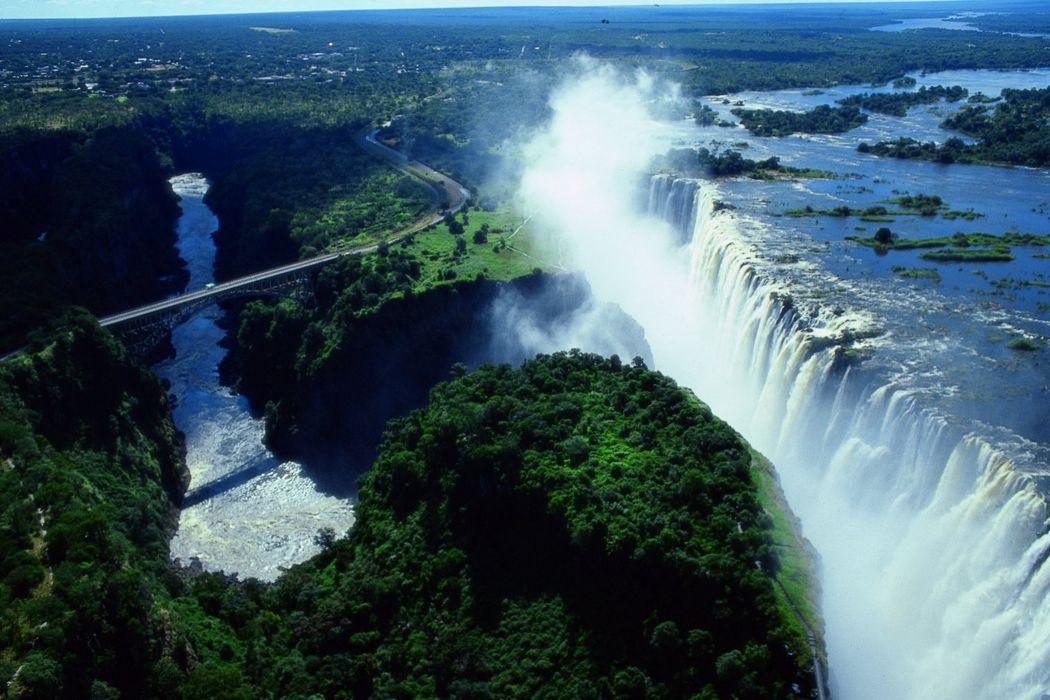 catarartas victoria zambia naturaleza wallpaper