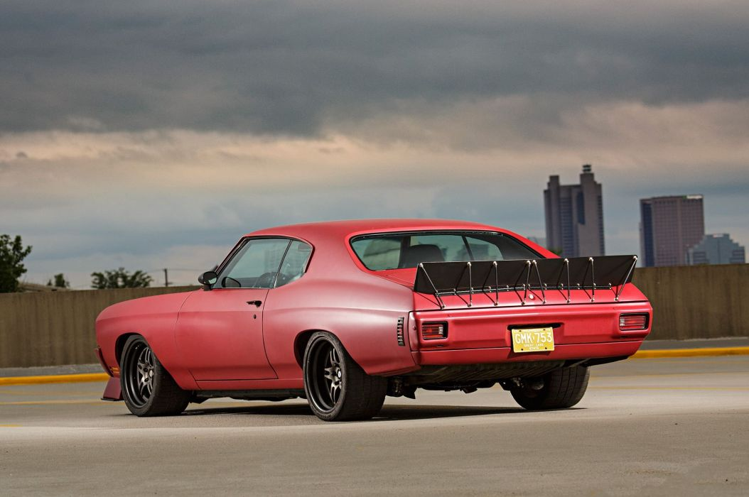 1970 Chevelle chevy cars coupe red modified wallpaper