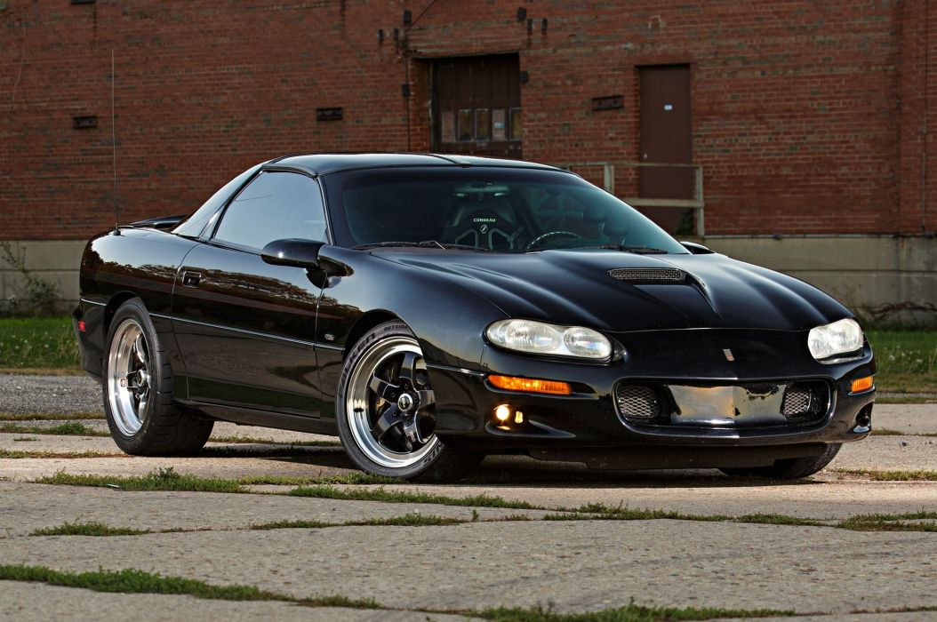 2001 chevy Camaro cars coupe black modified wallpaper