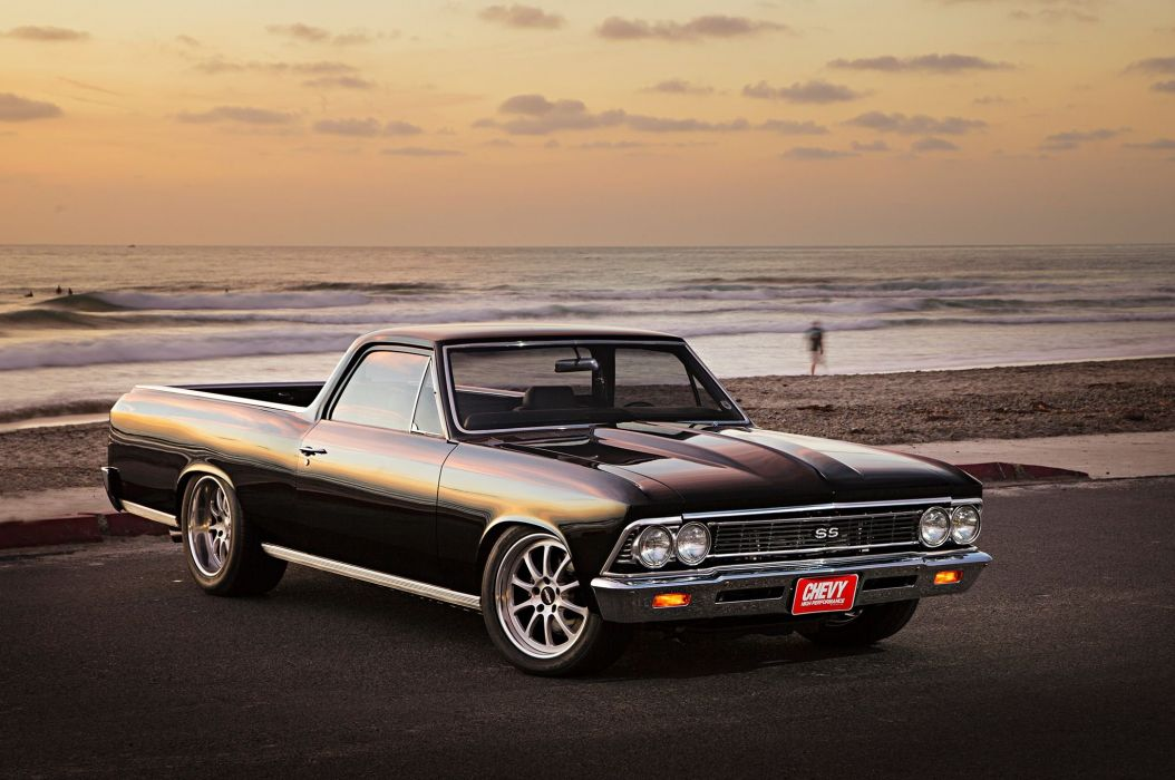 1966 chevy chevelle el camino cars pickup black modified wallpaper