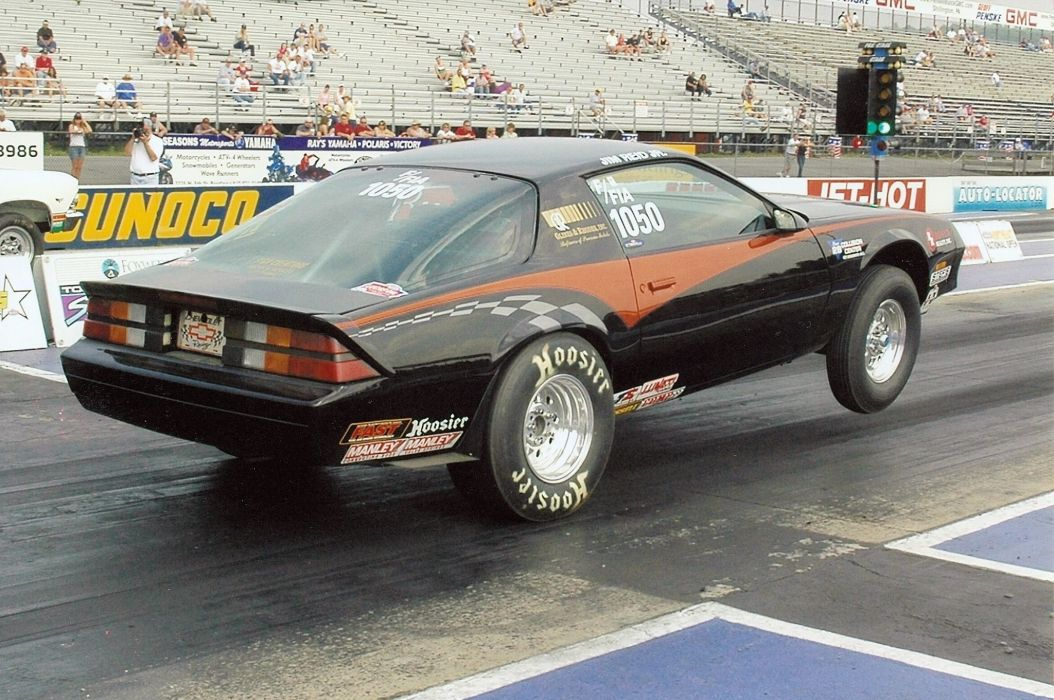 NHRA Division 1 Stock drag Eliminator 1987 chevy Camaro cars coupe black modified wallpaper