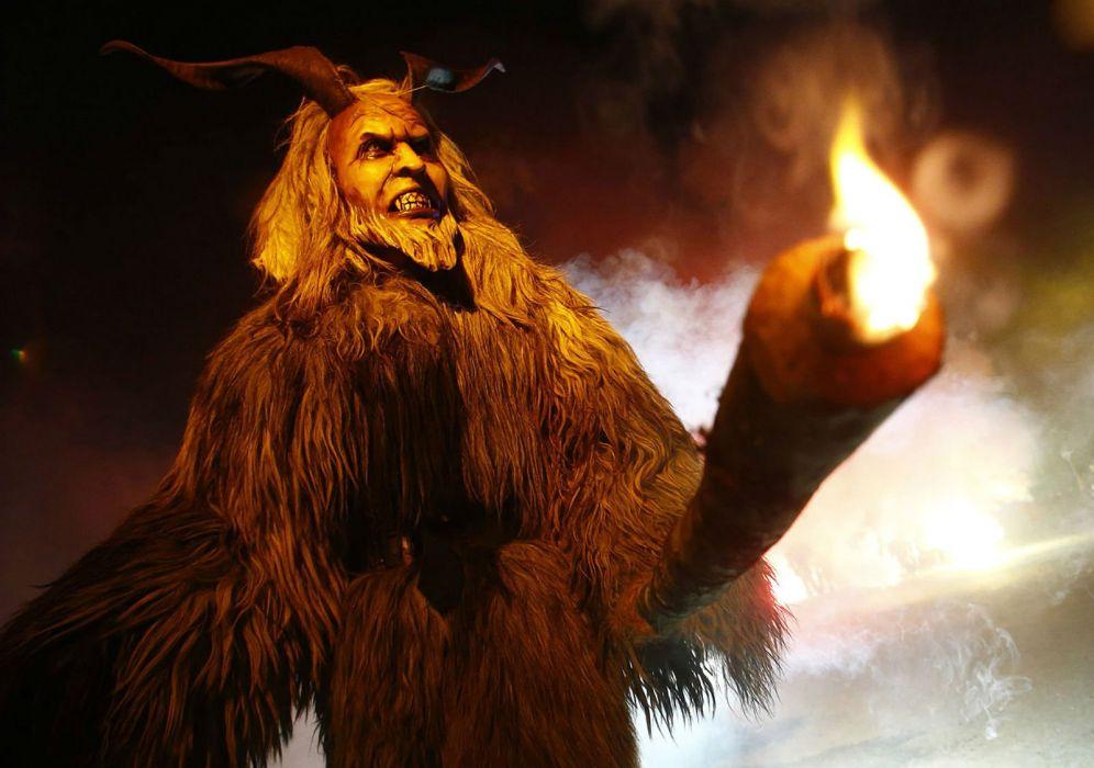 KRAMPUS monster demon evil horror dark occult christmas storyr wallpaper