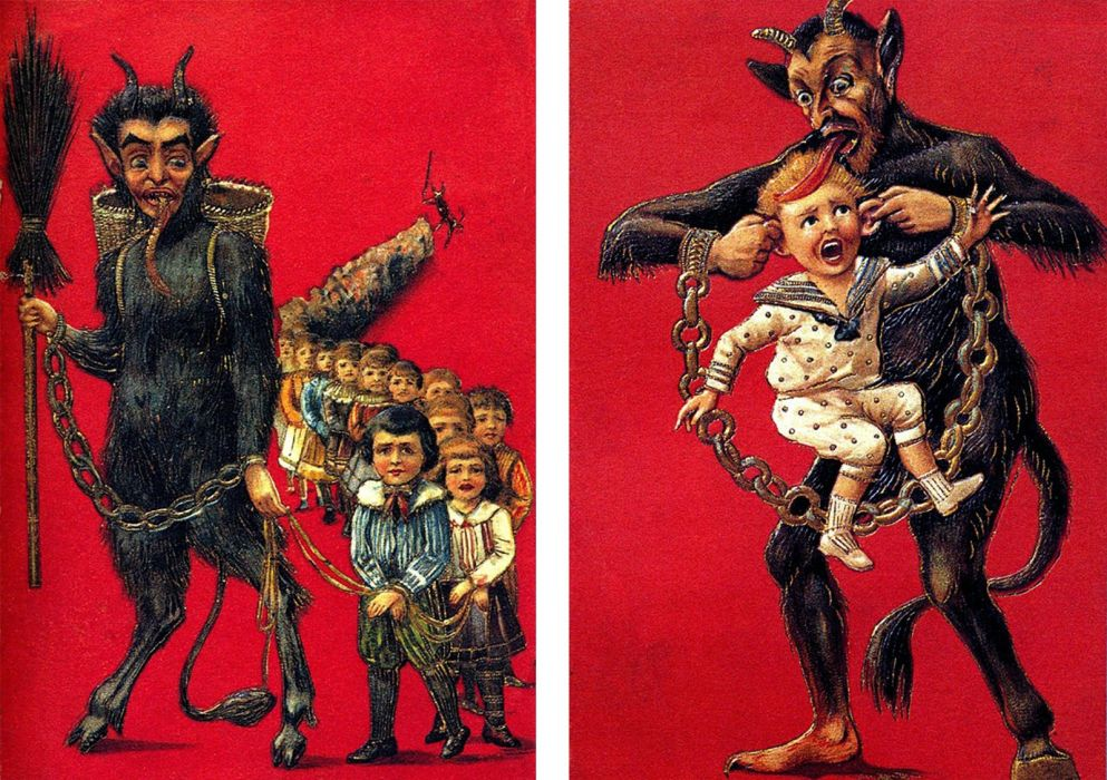 KRAMPUS monster demon evil horror dark occult christmas story wallpaper