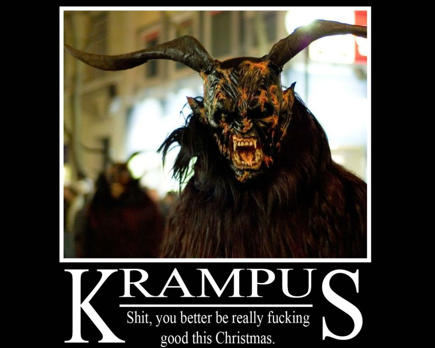KRAMPUS monster demon evil horror dark occult christmas story poster sadic wallpaper
