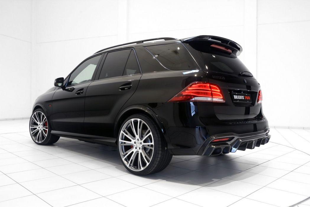 Brabus 700 (W166) mercedes GLE cars suv black modified 2016 wallpaper
