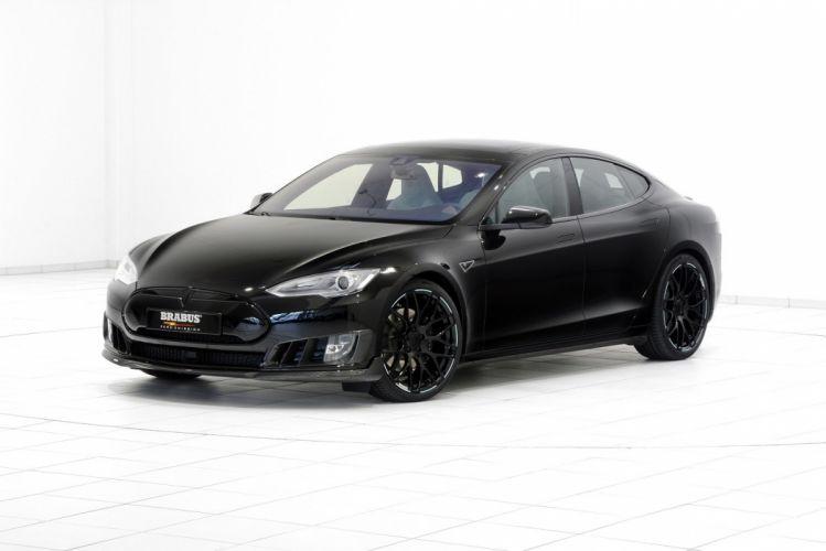 Brabus Tesla Model S cars electric modified black 2015 wallpaper