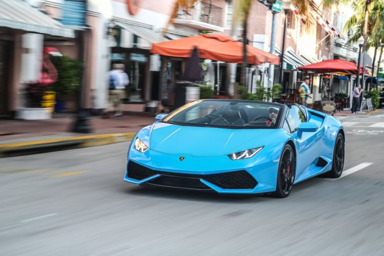 2016 Lamborghini Huracan cars blue Spyder wallpaper