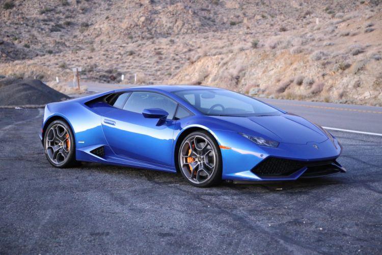 2016 Lamborghini Huracan cars blue coupe wallpaper