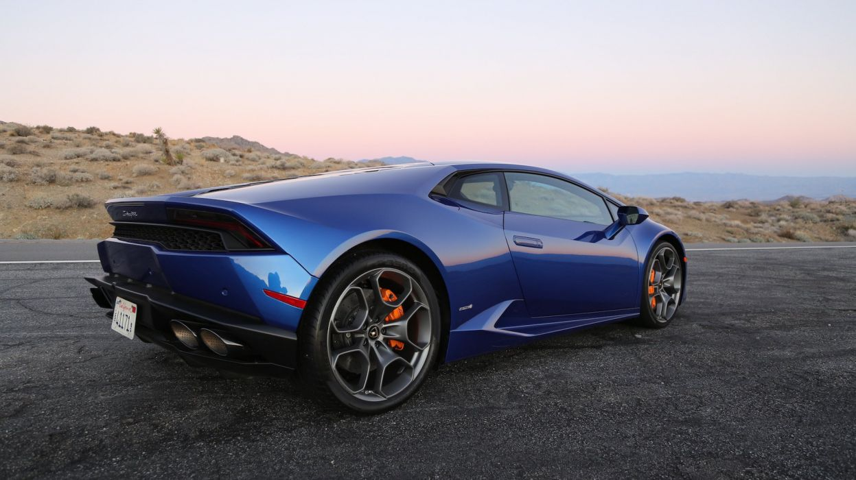 2016 Lamborghini Huracan cars blue coupe wallpaper