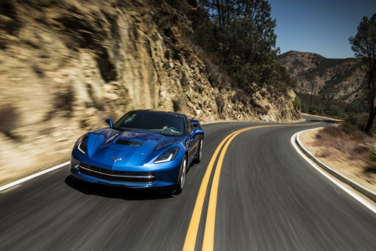 2014 Chevrolet Corvette Stingray coupe cars blue wallpaper