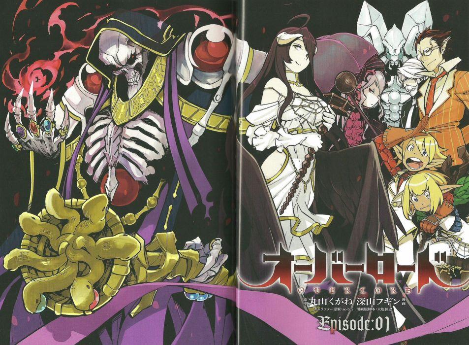 anime Overlord Series Demiurge Aura Bella Fiore Character wallpaper