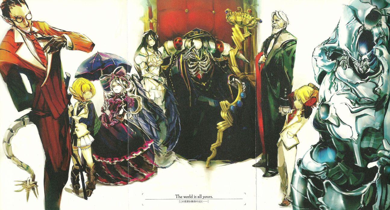 anime group girl Overlord Series Mare Bello Fiore Character Demiurge Aura Bella Fiore wallpaper
