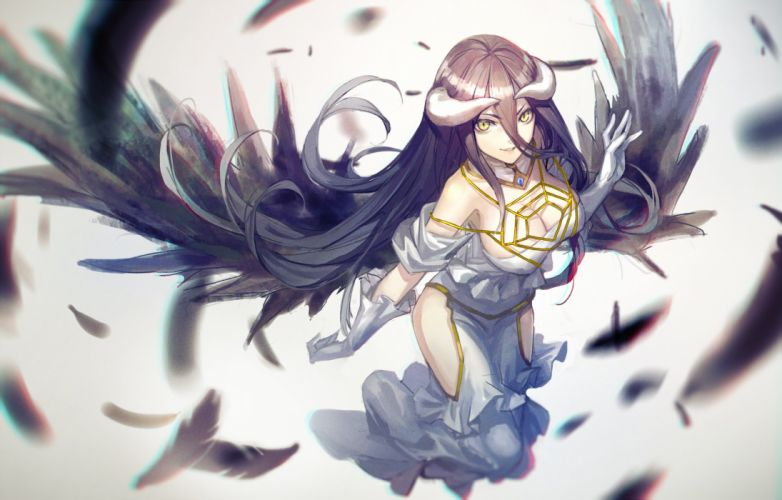 anime series overlord girl wings wallpaper