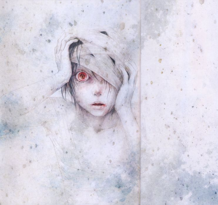 artwork anime red eyes boy wallpaper