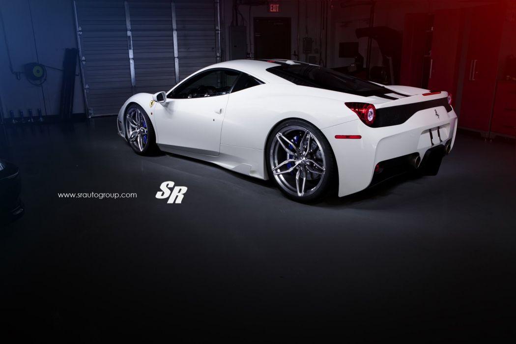 Ferrari 458 speciale cars coupe white PUR wheels wallpaper