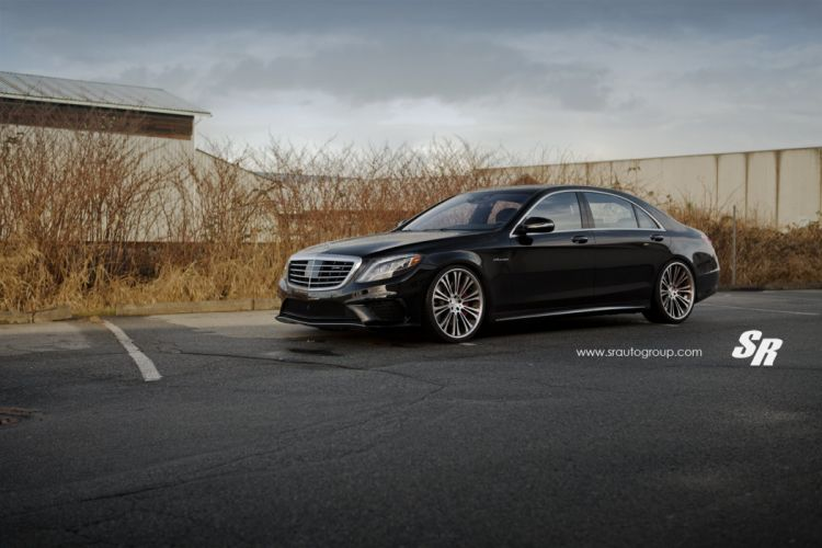 Mercedes S-class cars coupe black PUR wheels wallpaper