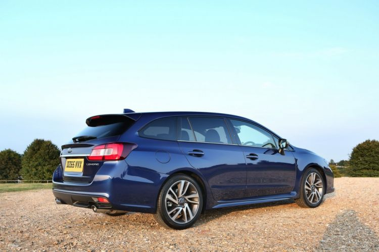 Subaru Levorg wagon cars UK-version blue 2016 wallpaper