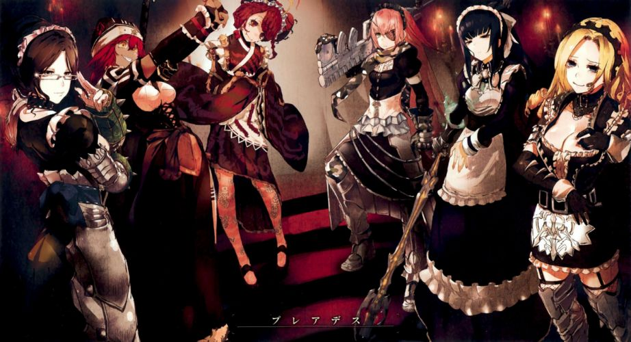 anime series group girl maid long hair overlord characters wallpaper