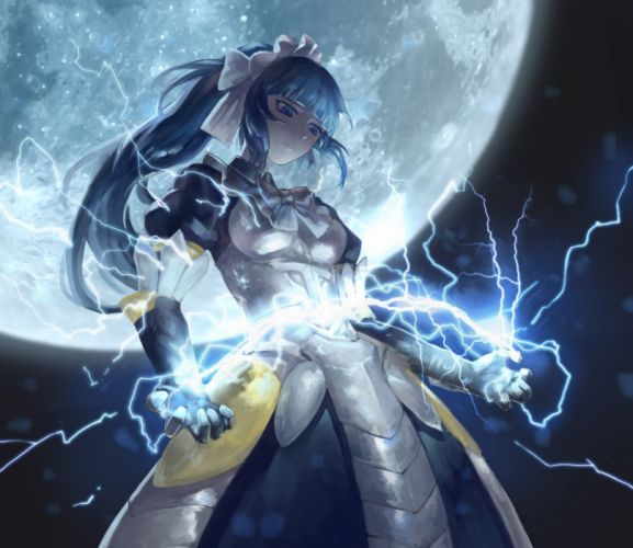 anime series moon magic girl long hair overlord characters wallpaper