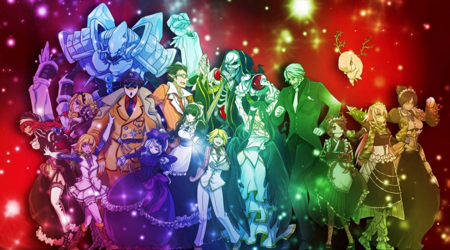 anime series group girl male long hair overlord characters wallpaper