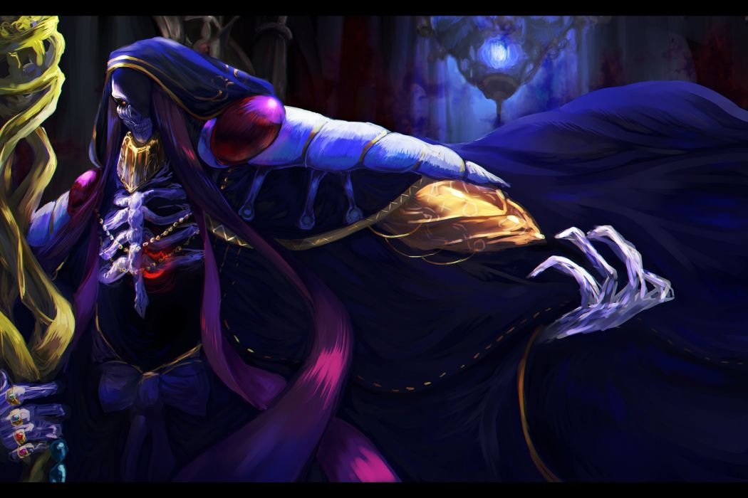 Ainz Ooal Gown anime series male overlord characters wallpaper