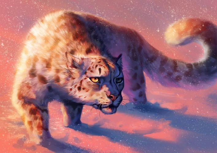 fantasy painting animal digital lion wallpaper