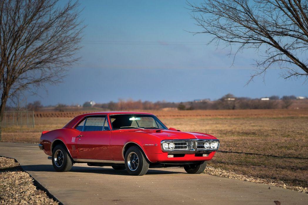 1967 Pontiac Firebird 400 cars red coupe classic wallpaper