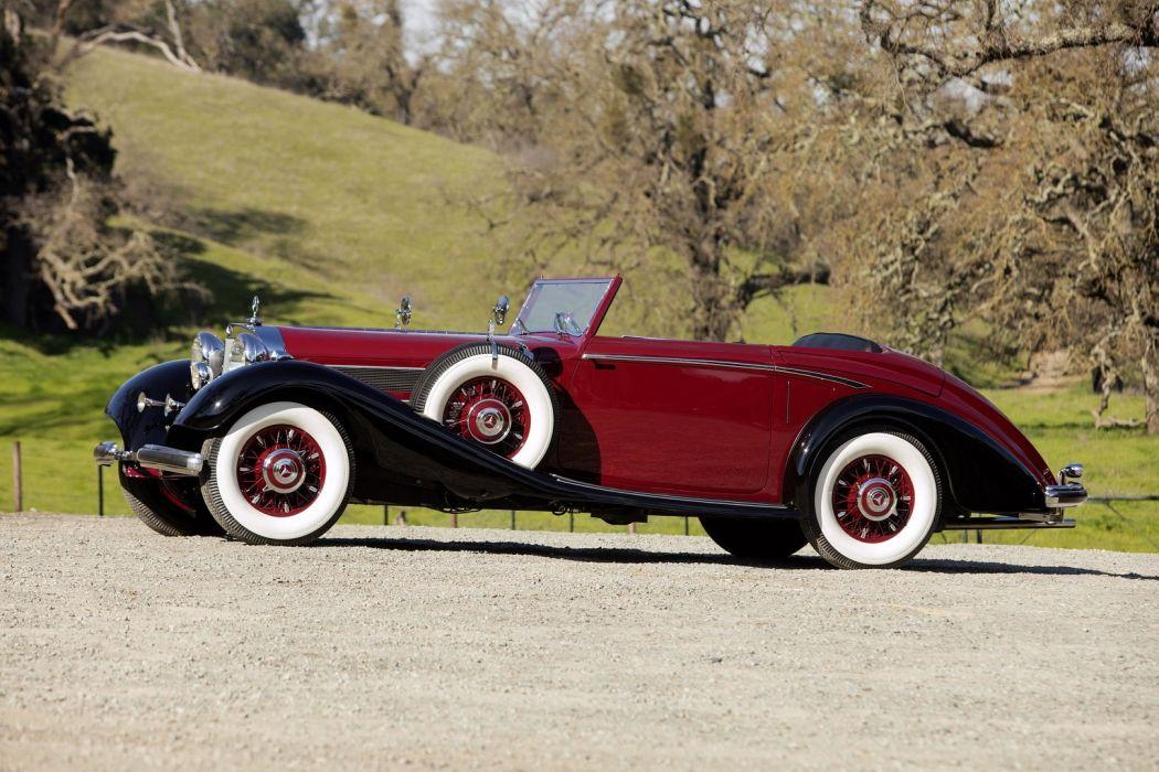 1938 Mercedes Benz 540K Roadster red classic wallpaper