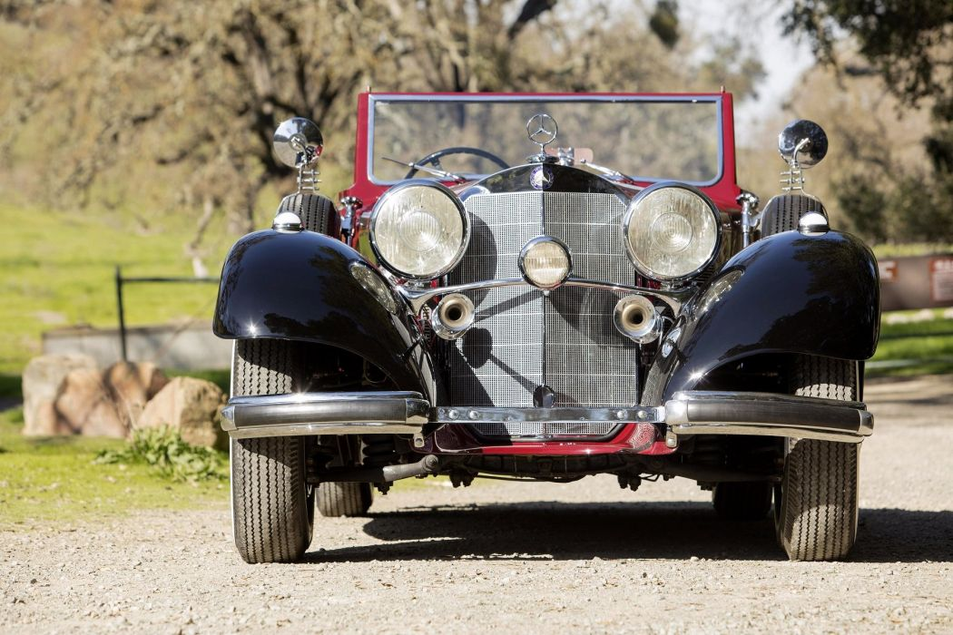 1938 Mercedes Benz 540K Roadster red classic wallpaper
