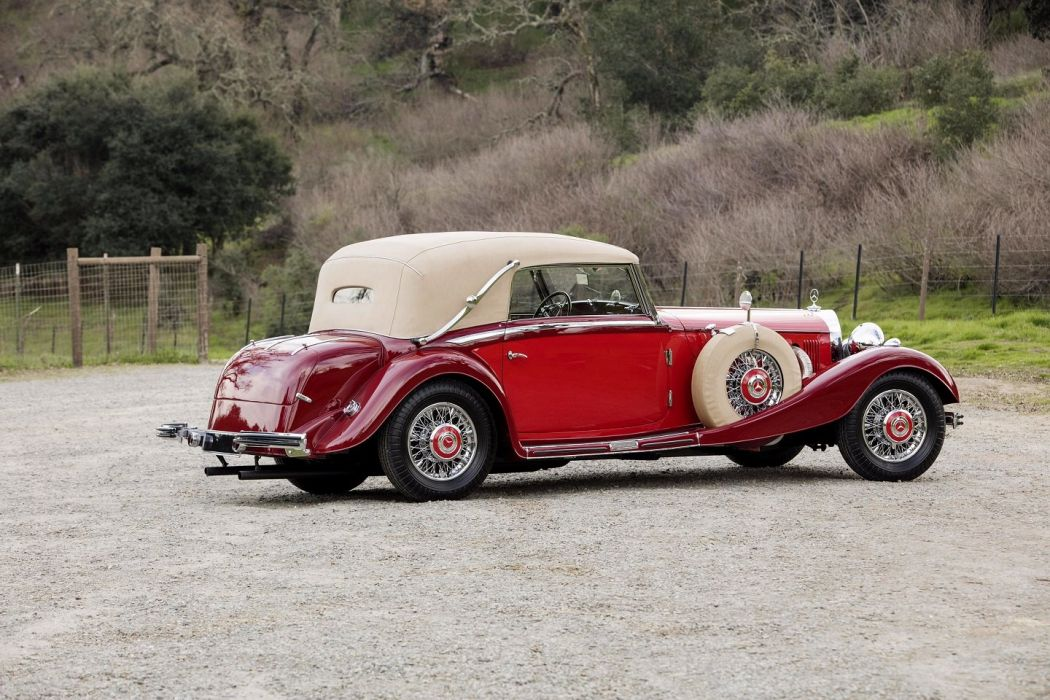 Mercedes Benz 500K Cabriolet C 1935 red classic wallpaper