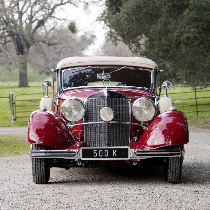 Mercedes Benz 500K Cabriolet C 1935 red classic wallpaper