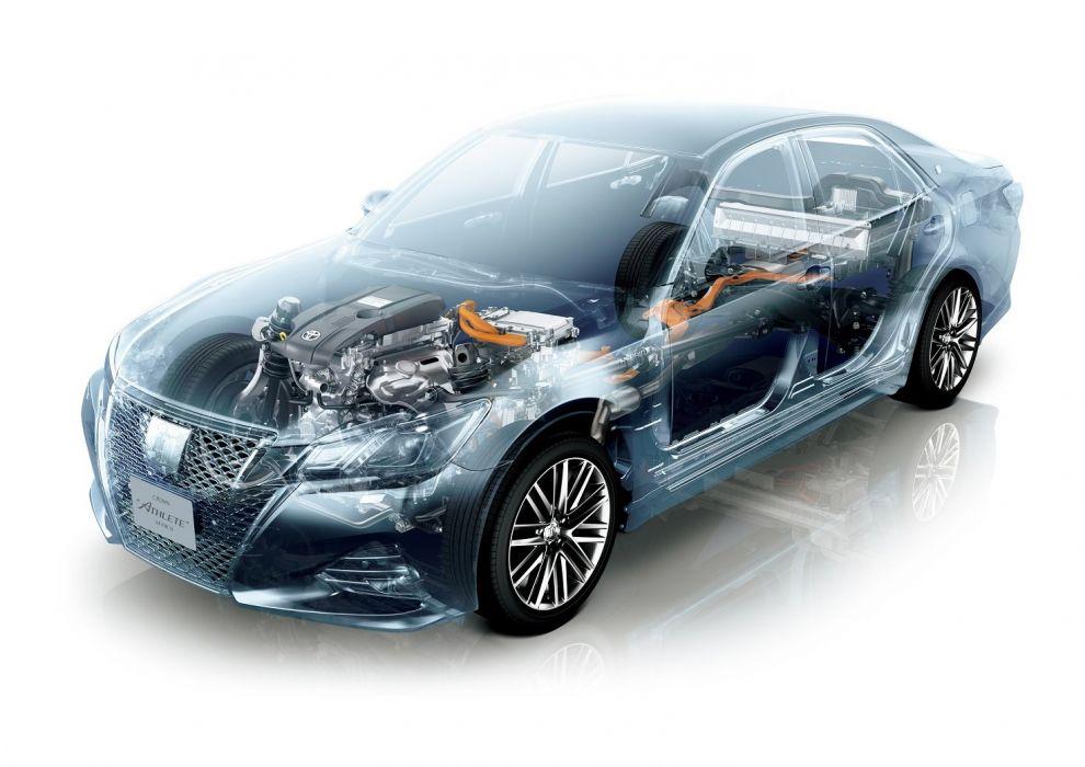 Toyota Crown Hybrid Athlete (S210) 2012 cars cutaway wallpaper