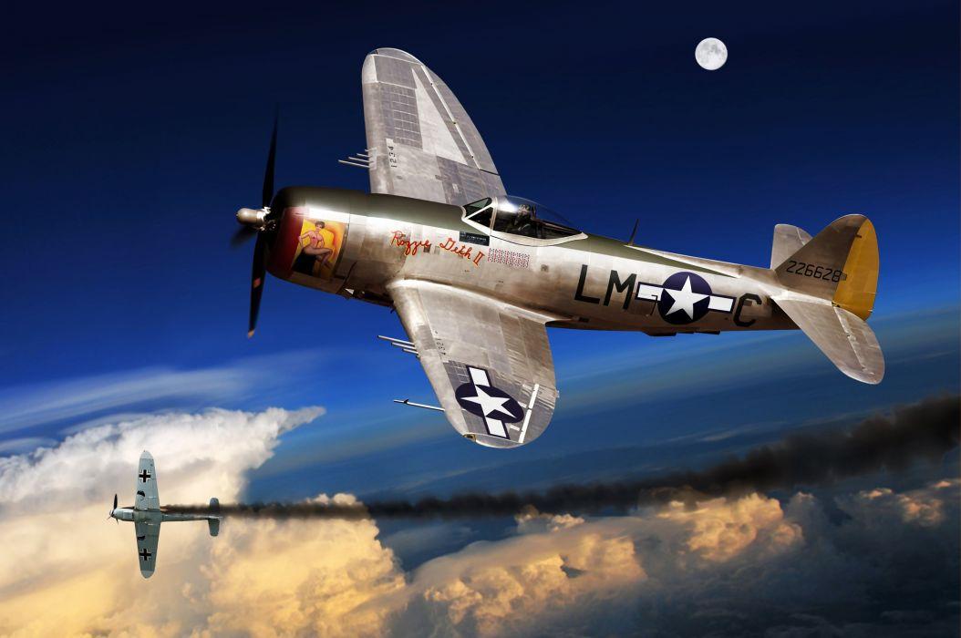 avion militar combate 2 guerra mundial wallpaper