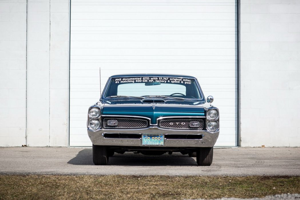 1967 Pontiac Tempest GTO Hardtop Coupe blue cars classic wallpaper